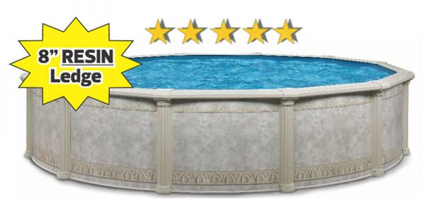 Dynasty above ground pools at Backyard Oasis