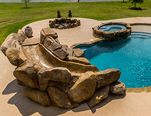 Water features at Backyard Oasis