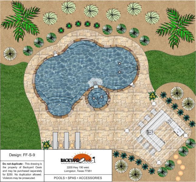 Inground Pools   Backyard Oasis - Livingston, TX