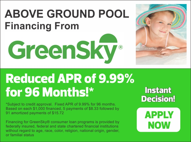 Above Ground Pool Financing