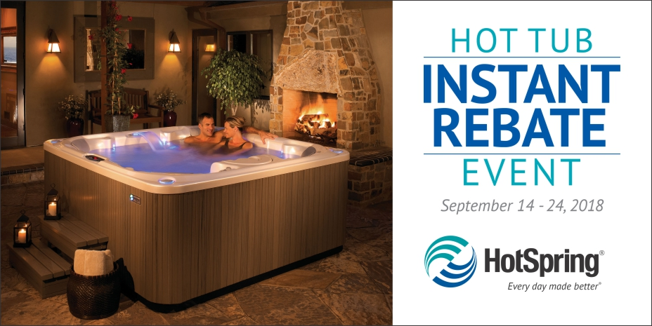 Hot Tub Sale 09/14/18 – 09/24/18