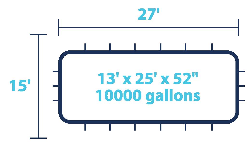 10000 Gallons Pool