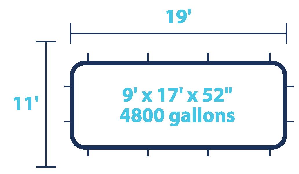 4800 Gallons Pool