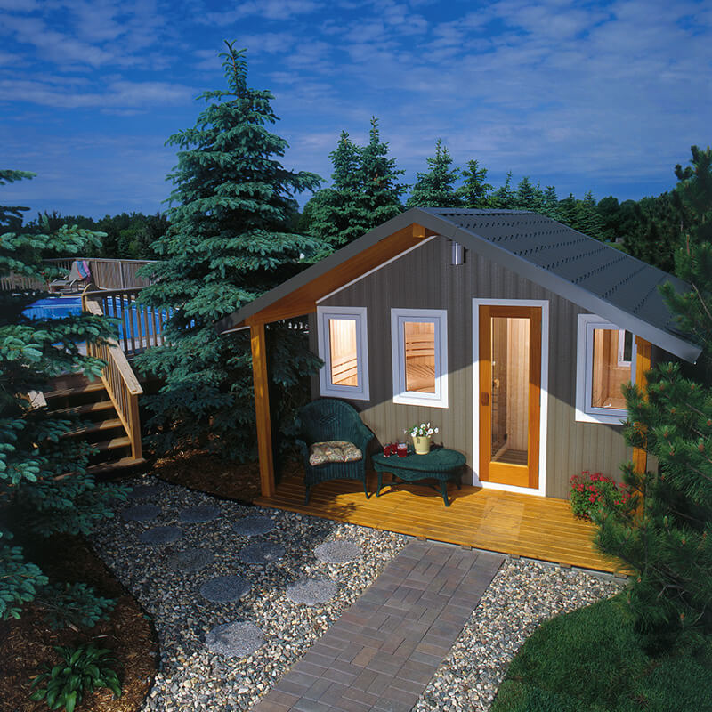 Finnleo Traditional Outdoor Saunas Metro Series Product Image