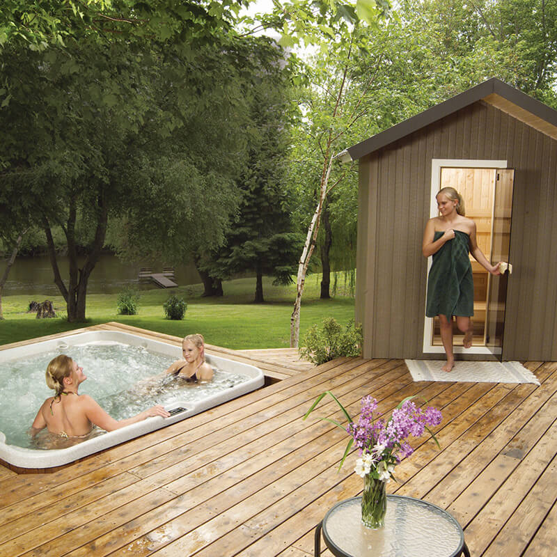 Finnleo Traditional Outdoor Saunas Patio Series Product Image