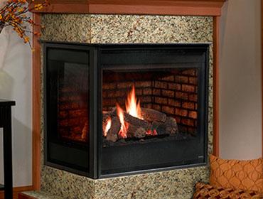 Corner Gas Fireplace Binner Pools Spas Fireplaces