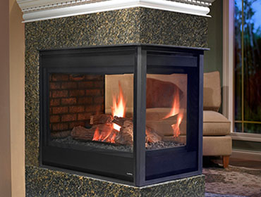 Incroyable Peninsula Gas Fireplace