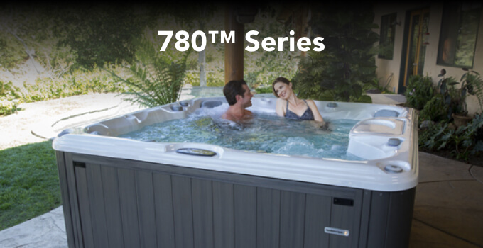 Lifestyle image of a family in a 780 Series spa