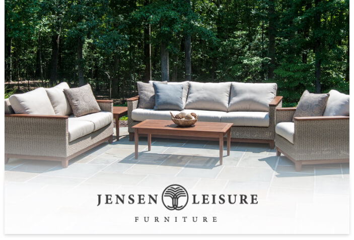 Jensen's Leisure logo on a lifestyle image
