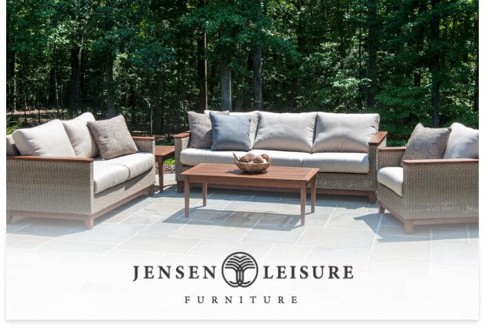 Jensen's Leisure logo on a lifestyle image