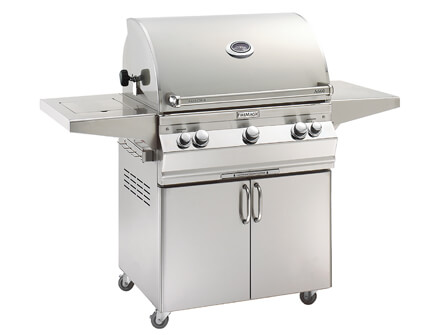 Aurora A660s Portable Grill with Single Side Burner Isolated