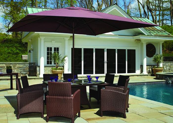 Treasure Garden Specialty umbrella poolside