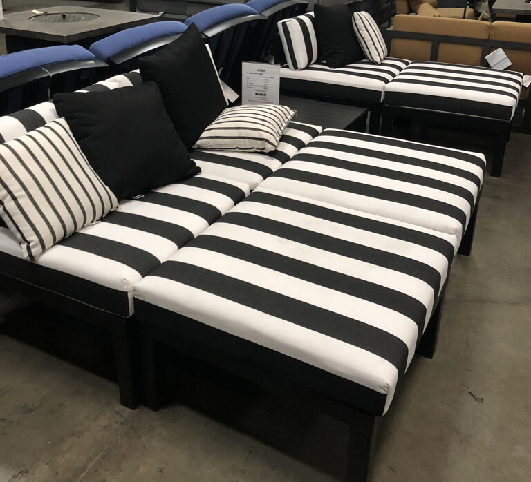Telescope Casual Ashbee Sectional Deep Seating with Sunbrella Fabric In Store