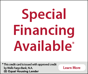 Banner for Wells Fargo financing application