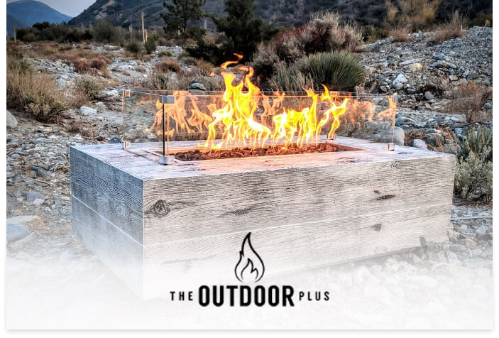 The Outdoor Plus's logo on a lifestyle image