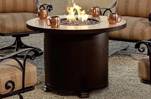 O.W. Lee's Hammered Copper fire table