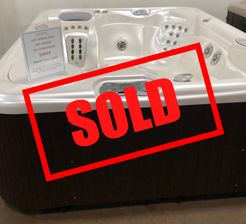Sold used sovereign hot tub