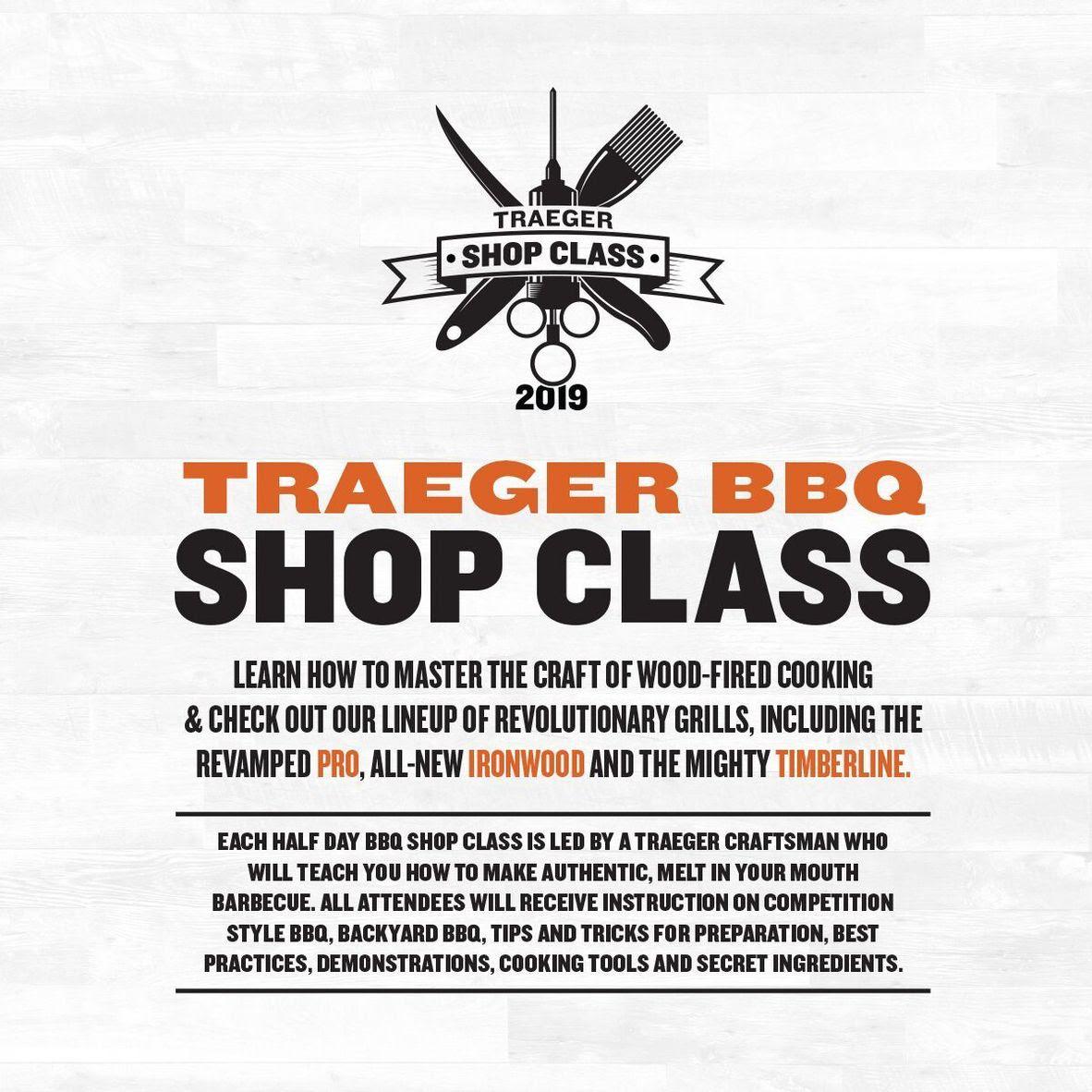 Traeger BBQ Shop Classes
