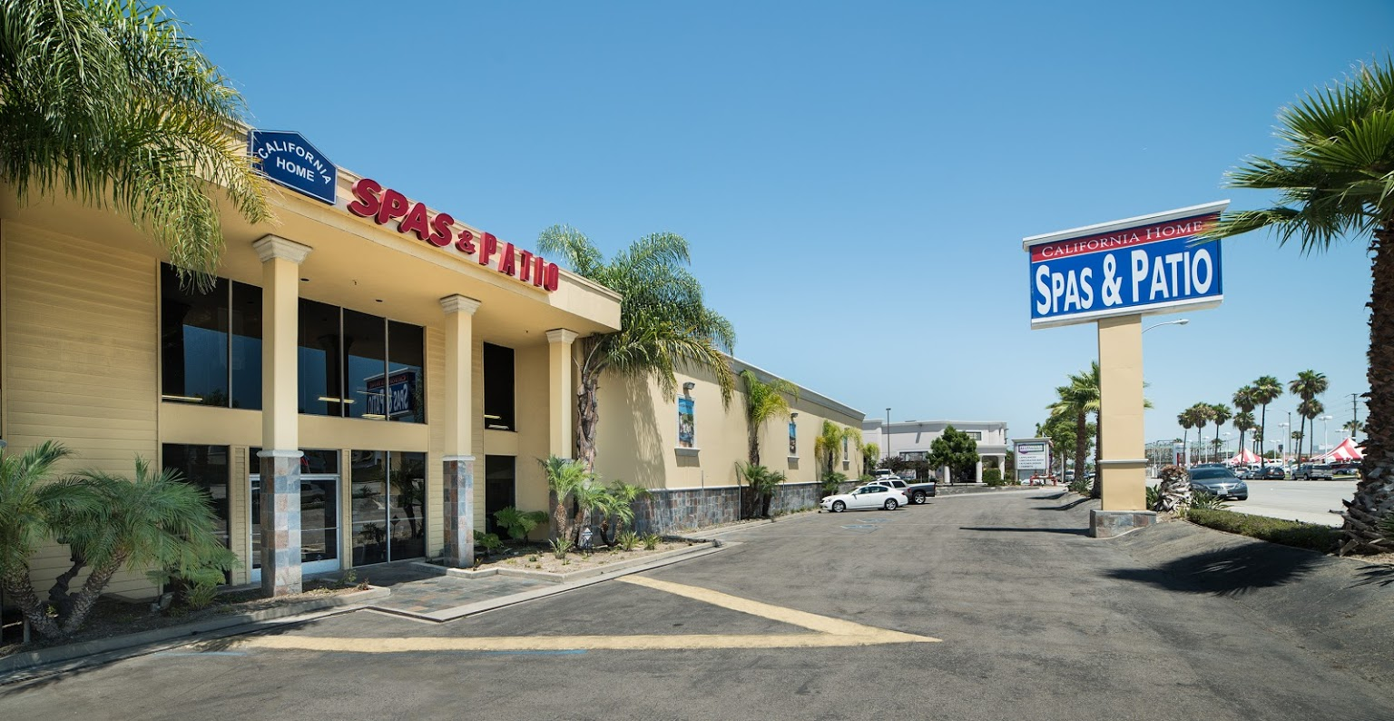 Front view of California Home Spas Hot Tub Store
