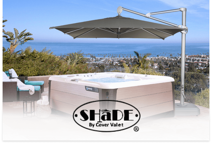 Cover Valet Shade over a Hot Spring spa