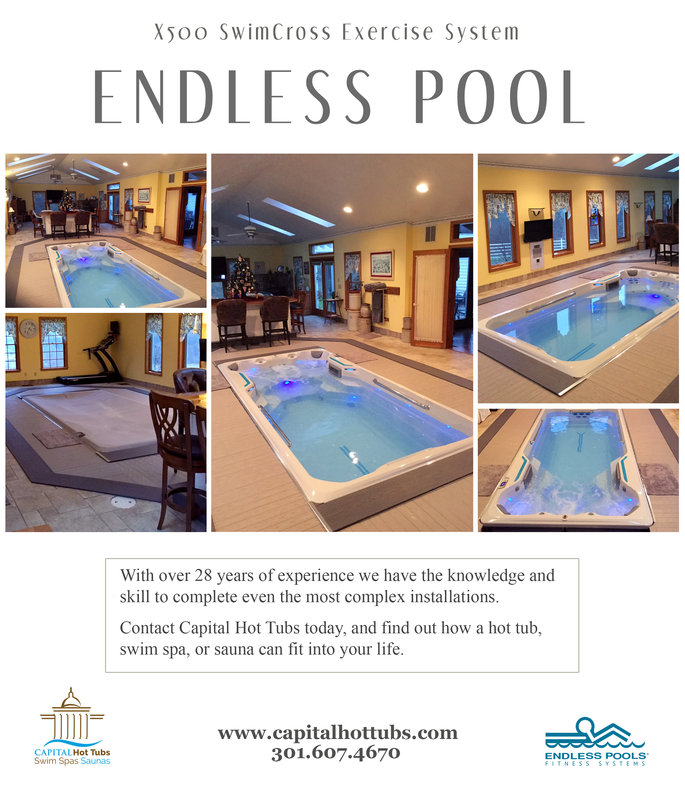 endless pool, swim spa