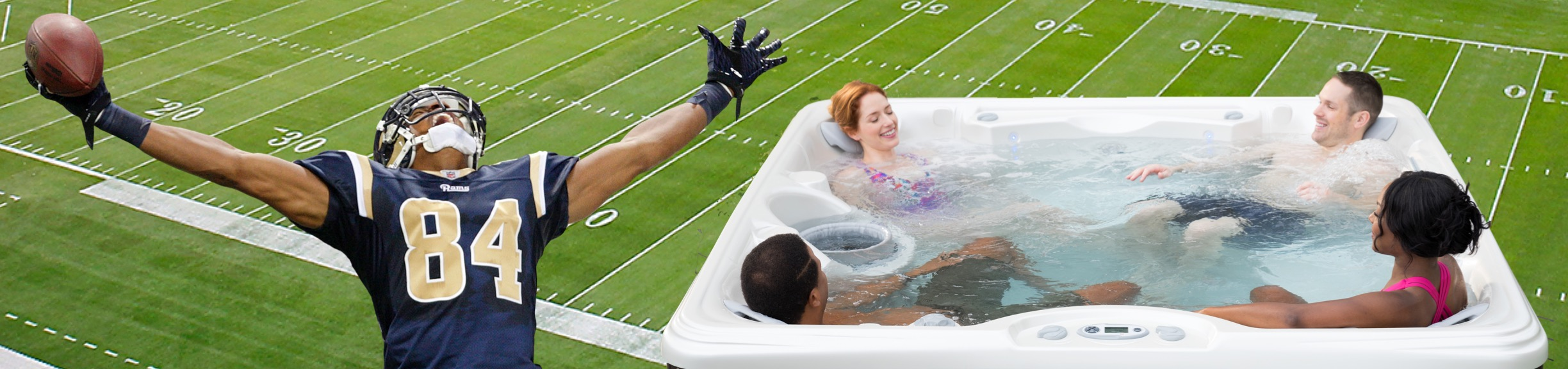 Hot Tub Super Bowl Party Time!
