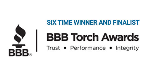 BBB Torch Awards - Six Time Winner and Finalist