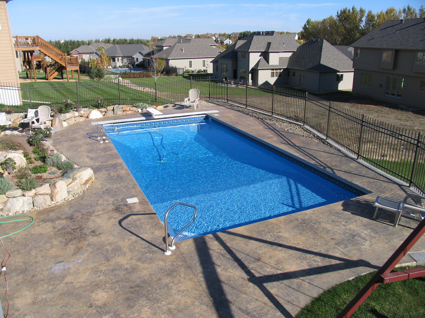 Inground pools combined pool spa