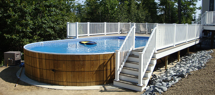 Crestwood Above Ground Pools Family Image