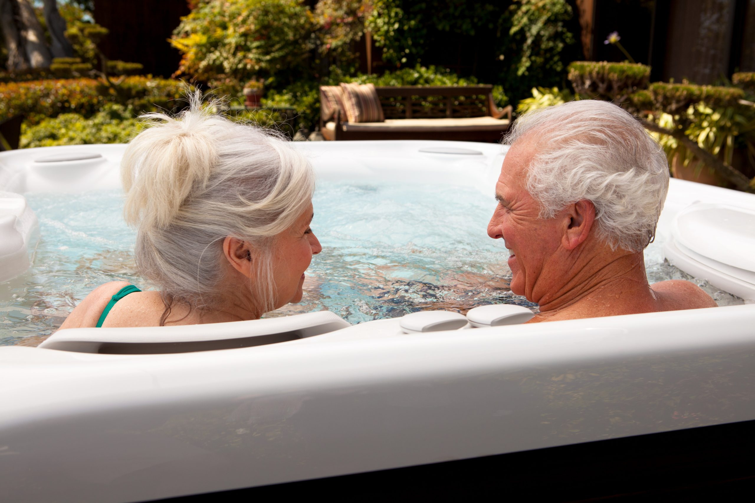 Grandma and Grandpa enjoying hot tub time this mothers day