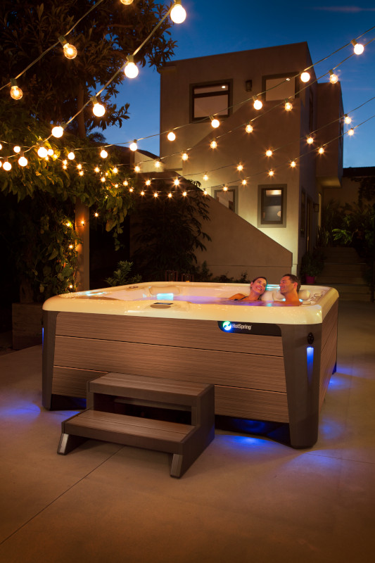 HotSpring Spas Highlife Collection couple in the night