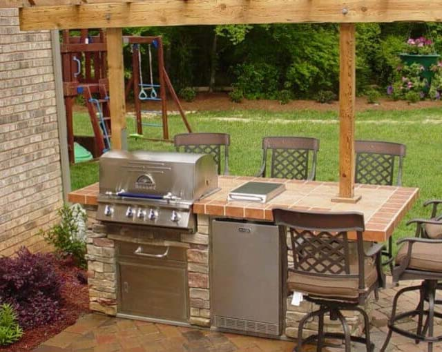 outdoor living outdoor kitchen bbq bar island grill