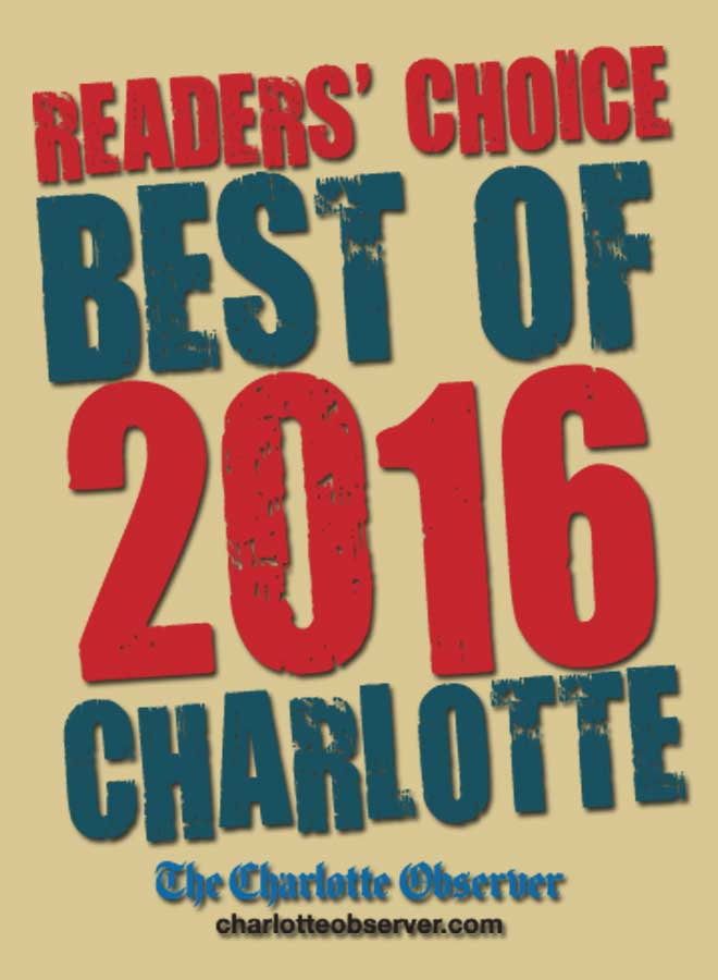"Reader's Choice ""Best of 2016"" by Charlotte Observer"
