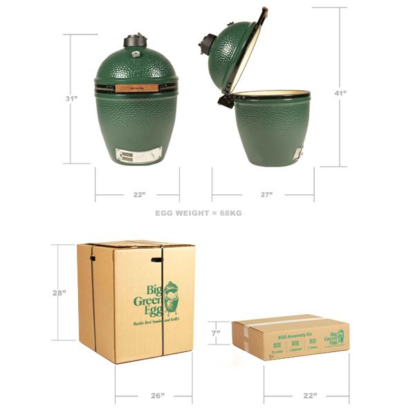 Large Big Green Egg product dimensions