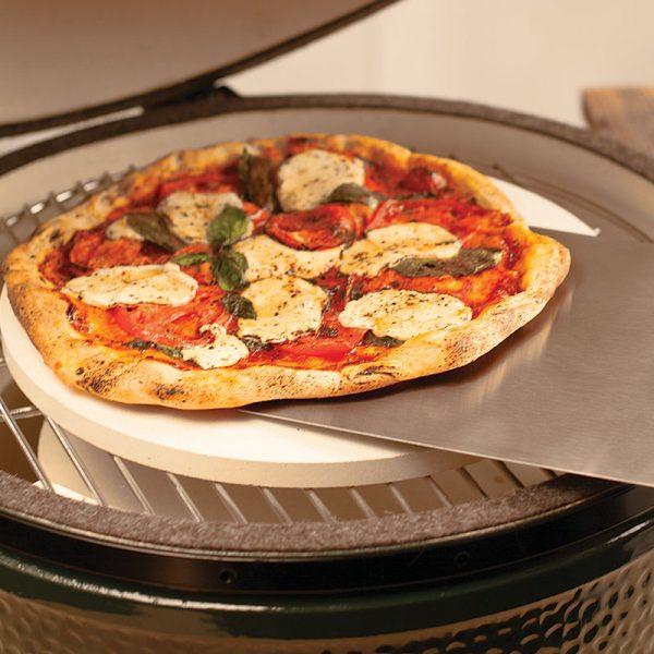 Pizza on Metal Peel