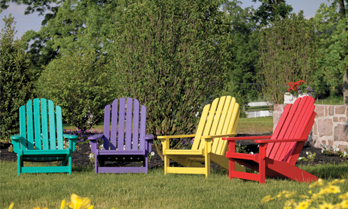 Breezesta recycled lawn chairs in many colors