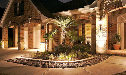 A home with Vista professional lighting installed