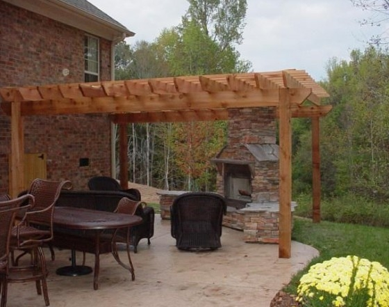 1 - Pergola And Fireplace - Fun Outdoor Living