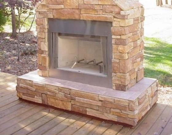 Fireplace on a Deck Family Image