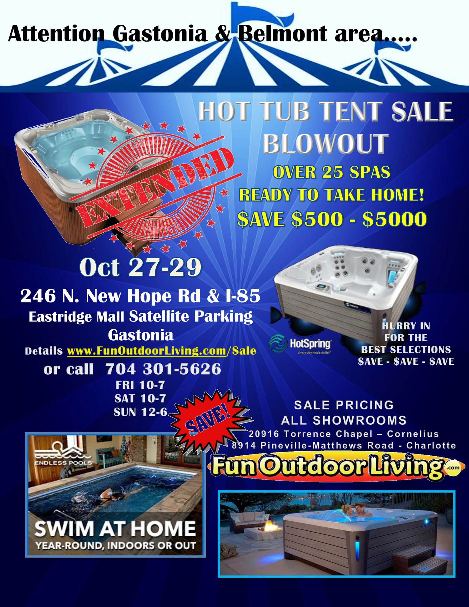 Gastonia & Belmont - Hot Tub Tent Sale Blowout - EXTENDED! - Fun ...