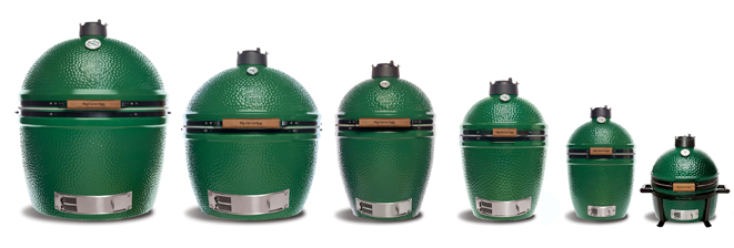 Big Green Egg grills sorted by size