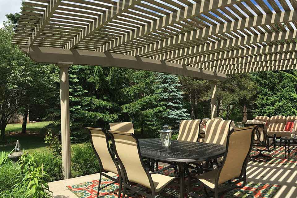 Temo Operable Pergola construction by Fun Outdoor Living