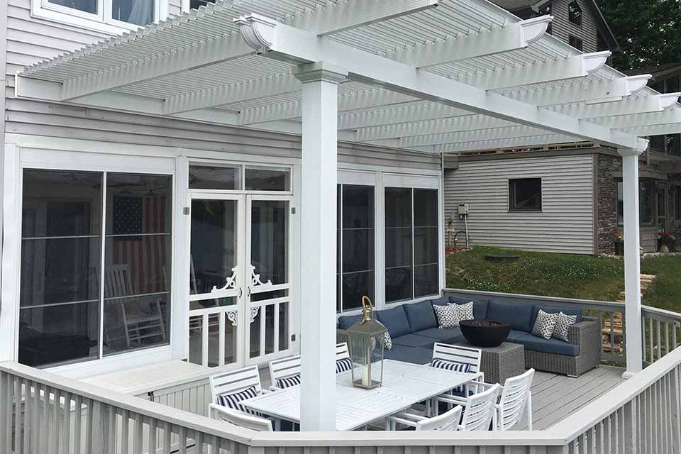 Fun Outdoor Living construction and installation of a Pergola