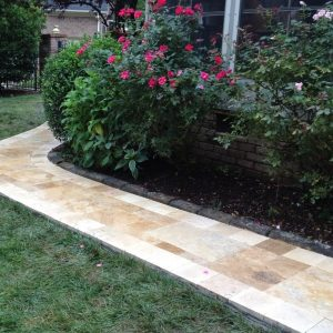 Stone walkway construction and installation
