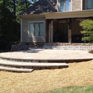 Fun Outdoor Living stone patio construction and installation