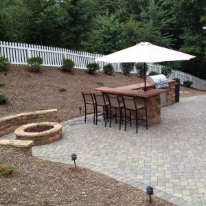Fun Outdoor Living construction of outdoor patio