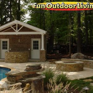 Fun Outdoor backyard stone walkway patio