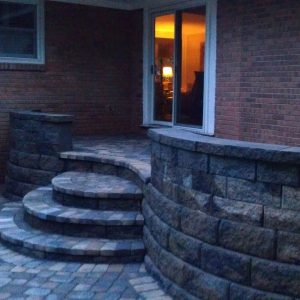 Fun Outdoor Living construction of stone walkways and stairs