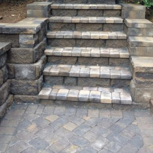 Stone walkways and stairs construction and installation