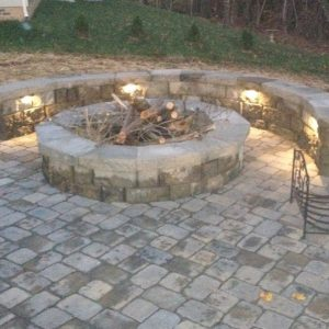 Fire Pit installation on patio